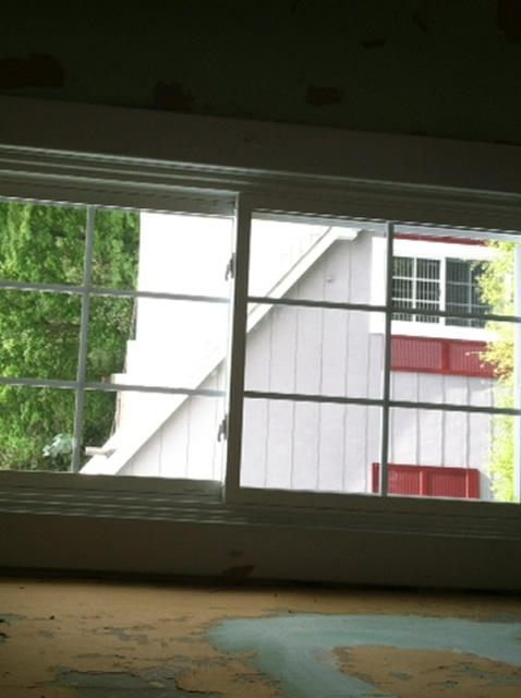 installed windows inside view