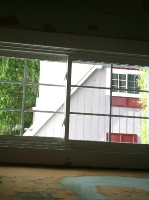 installed windows inside view