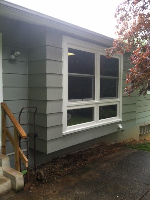outside view of picture window replacement