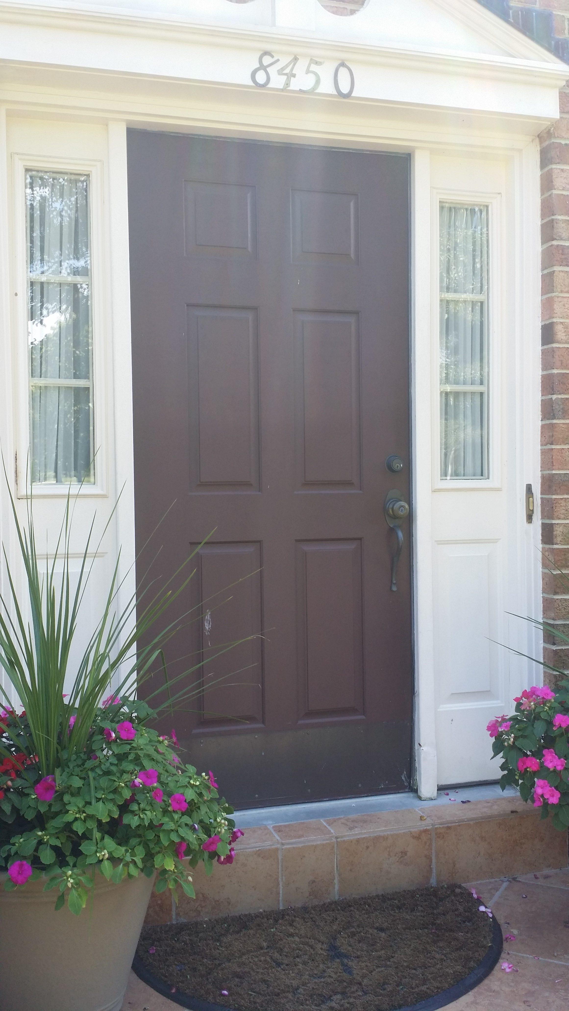 before picture front door replacement