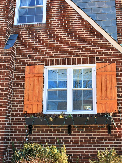 installed windows on brick house