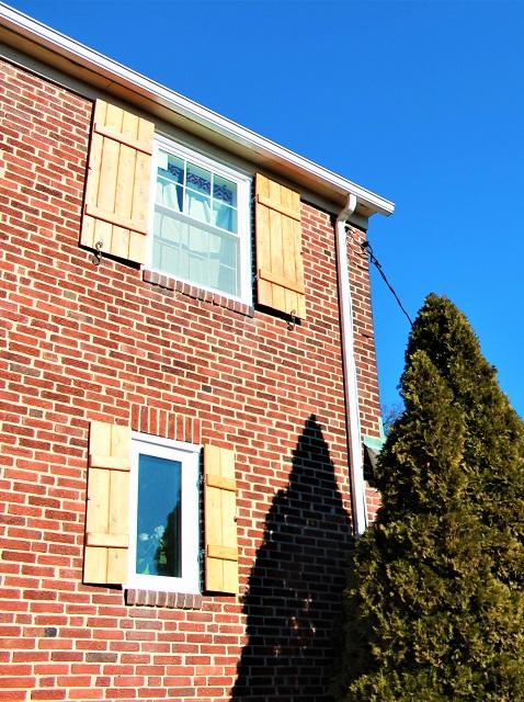 brick house with new windows