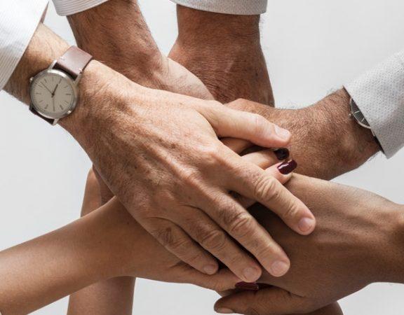 hands showing teamwork